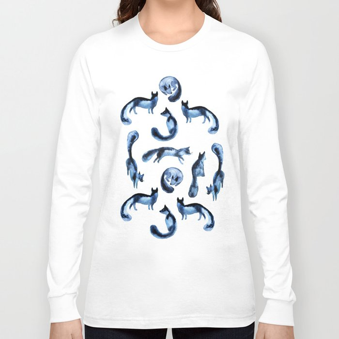 A pack of silver foxes. Long Sleeve T-shirt