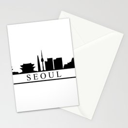seoul skyline Stationery Cards