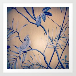 bird wall paper Art Print