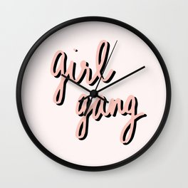 Girl Gang Wall Clock