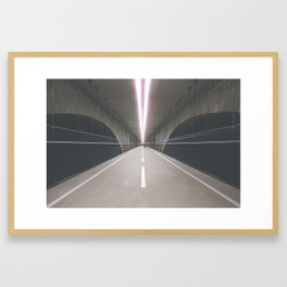 PONT ADOLPHE BIKE BRIDGE I Framed Art Print
