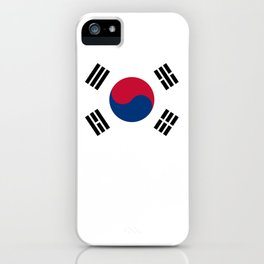 National flag of South Korea, officially the Republic of Korea, Authentic version - color and scale iPhone Case