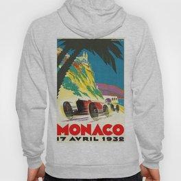 Vintage 1932 Monaco Grand Prix Racing Advertising Poster Hoody