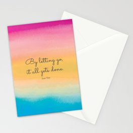 By letting go, it all gets done. Lao Tzu Stationery Cards