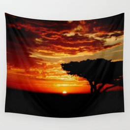Fiery Dragon Wall Tapestry