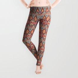 Winter Marsala Tribal Design Leggings