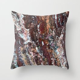 Blood Marble Throw Pillow