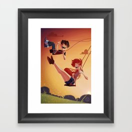 With You Framed Art Print