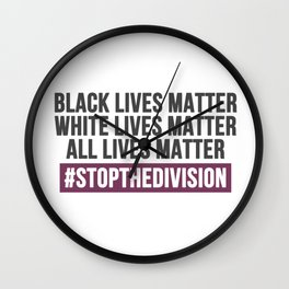 Stop the division Wall Clock