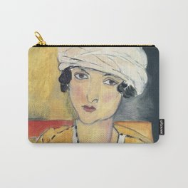 Vintage poster-Henri Matisse-Lorette with turban and yellow vest. Carry-All Pouch