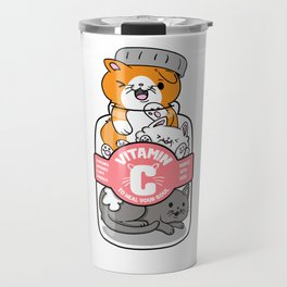 Cat Vitamins pill Catlady funny gifts Travel Mug