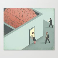 psychology Canvas Prints featuring Brain Room by Davide Bonazzi