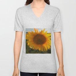 love yellow Unisex V-Neck
