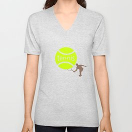 Tennis player Unisex V-Neck