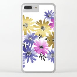 Flower Cluster Clear iPhone Case