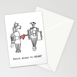 Please Accept My Heart Stationery Cards