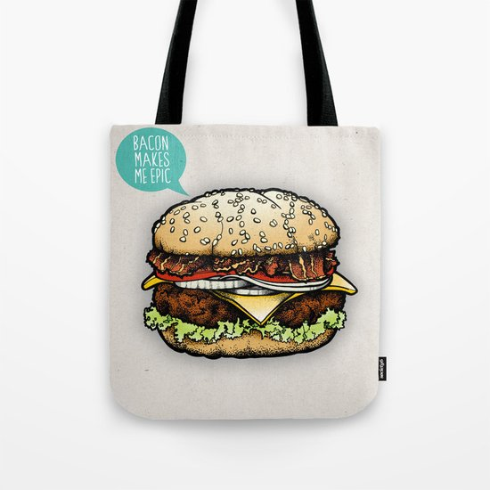 Epic Burger Tote Bag