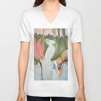 river V-neck T-shirts featuring River by Valkyries