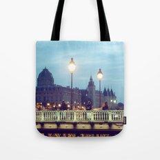 Paris at Night: Pont Neuf Tote Bag