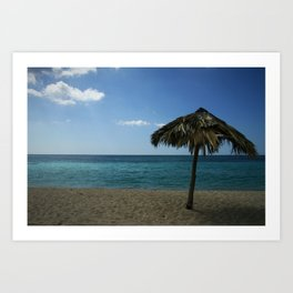 Caribean beach Art Print