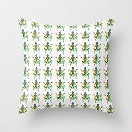 I am actually frog Throw Pillow