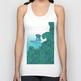 Surfer Dude Hangin Ten Unisex Tank Top