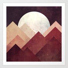 Midnight Mountains Art Print