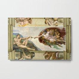 "Michelangelo Buonarroti ""Creation of Adam"" (1) Metal Print"