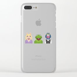 Kermit Miss Piggy And Gonzo The Muppets Pixel Clear iPhone Case
