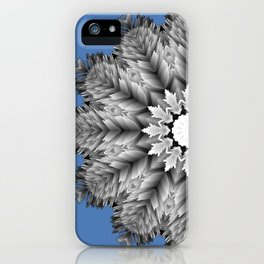 Abstract icy winter flower mandala iPhone Case