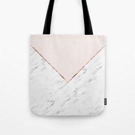 Peony blush geometric marble Tote Bag