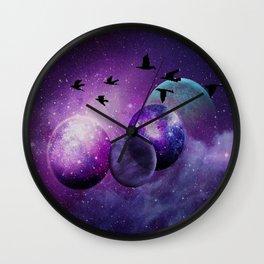 Space birds Wall Clock