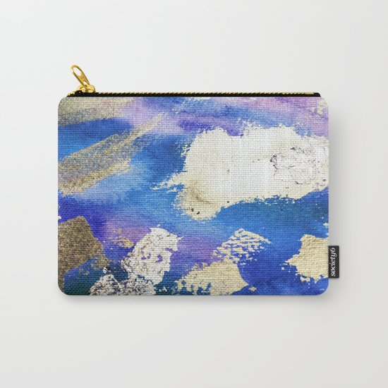 Gold Ocean Abstract Modern Design Carry-All Pouch
