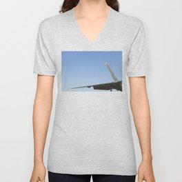 F22 F-22 Raptor Fighter Military Aircraft/Airplane Detail USAF Unisex V-Neck