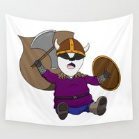 badger Wall Tapestries featuring Battle Badger by Ethrinity