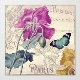 Petals of Paris IV Canvas Print