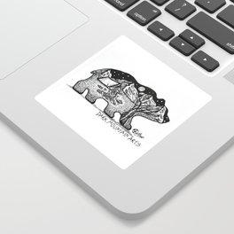"""Wander Bear"" Hand-Drawn by Dark Mountain Arts Sticker"