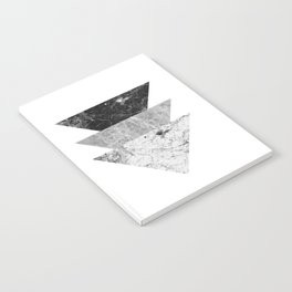 Night marble triangles Notebook