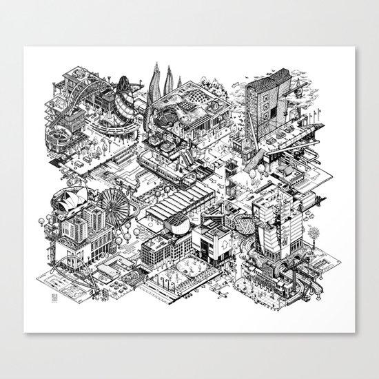 ARUP Fantasy Architecture Canvas Print