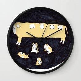 Domino Dog Wall Clock