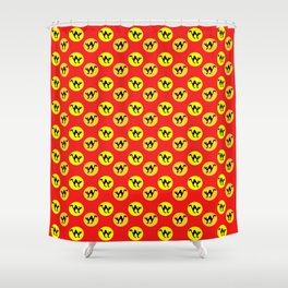 Halloween cat pattern Shower Curtain
