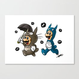 Super Totoro Bros. Alternative Canvas Print
