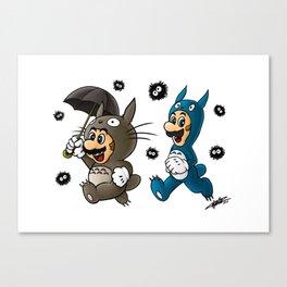 Super Totoro Bros. Alternative Canvas Print