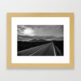 Road to Timanfaya national park Lanzarote Framed Art Print