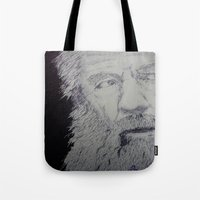 gandalf Tote Bags featuring Gandalf by Sketchr94