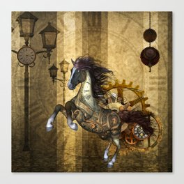Awesome steampunk horse Canvas Print