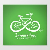 pocket fuel Canvas Prints featuring Infinite Fuel  by Italiux