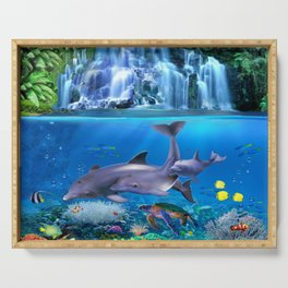 The Dolphin Family Serving Tray