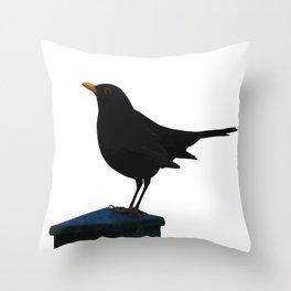 Blackbird Vector Throw Pillow