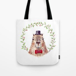"Watercolor painting ""Sir Capybara"" Tote Bag"